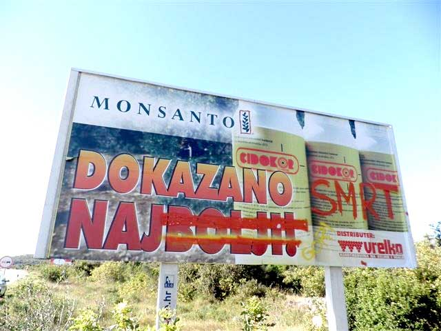 GMO - izum bez razuma - strana 302 - plakat Monsanto smrt