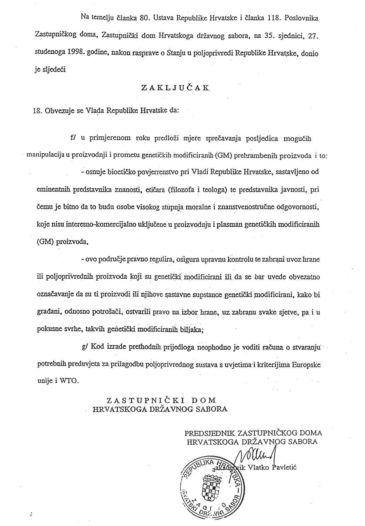 GMO - izum bez razuma - strana 324 - Zakljucak Sabora