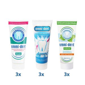 Zubne paste – Fresh x3, Nature x3, Whitening x3
